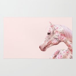 FLORAL HORSE Rug
