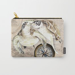 Sea Turtles Compass Map Carry-All Pouch