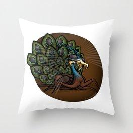 Mutant Zoo - Peacockroach Throw Pillow