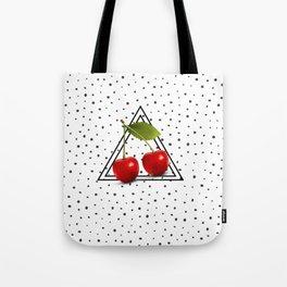 Cherries and Pyramid Tote Bag