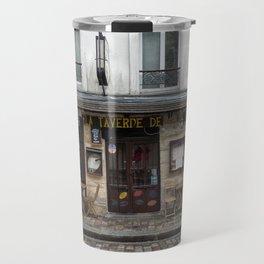 Cafe in Monmartre Paris Travel Mug
