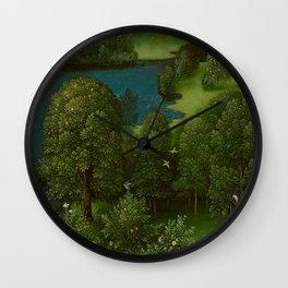 Joachim Patinir - Crossing the River Styx Medieval Fantasy Fairy Tale Landscape Wall Clock