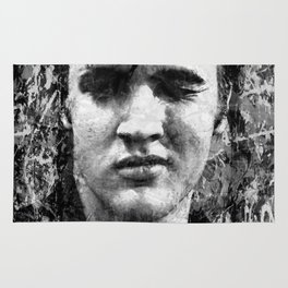ELVIS PRESLEY (BLACK & WHITE VERSION) Rug