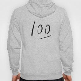 100 typography Hoody