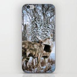 Nuzzling Deer iPhone Skin