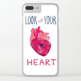 Look with your heart Clear iPhone Case