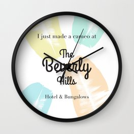 The Beverly Hills Hotel Leaf Wall Clock
