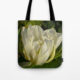 Double White Tulip by Teresa Thompson Tote Bag