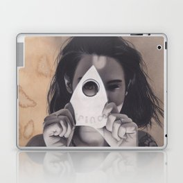 Realism Drawing of Beautiful Woman with Ouija Planchette Piece Laptop & iPad Skin
