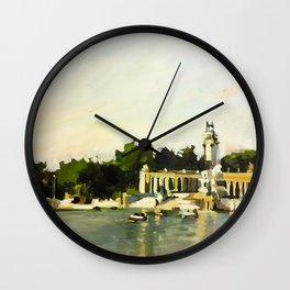 The Lake at Buen Retiro Park Wall Clock