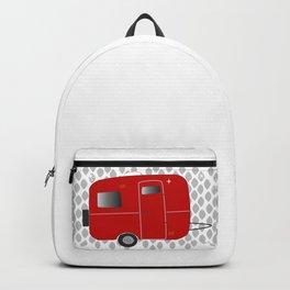 vintage trailer in red Backpack