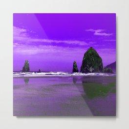 Oregon Coast Abstract Metal Print