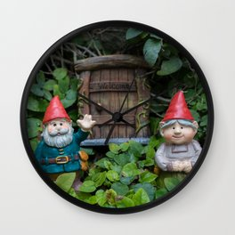 Welcome Gnome Wall Clock