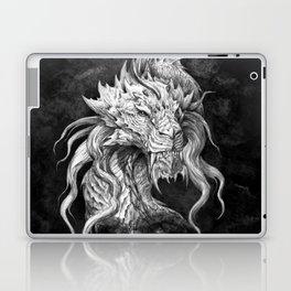 Dark Side Japanese Dragon portrait on black background   Graphit Laptop & iPad Skin