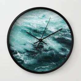 Water Photography | Sea | Ocean | Pattern | Abstract | Digital | Turquoise Wall Clock