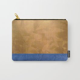 Copper Metallic With Tuscan Blue Stripe Trim Carry-All Pouch