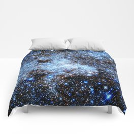 Blue gAlaxY Sparkle Stars Comforters