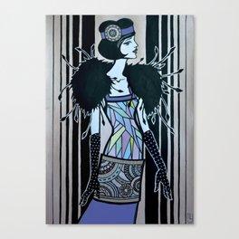 Melancholic flapper Canvas Print