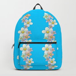 Wavy Floral on sky Backpack