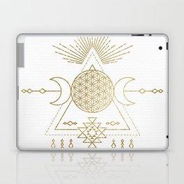 Golden Goddess Mandala Laptop & iPad Skin