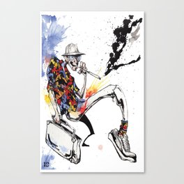 Hunter S Thompson by BINDU Canvas Print