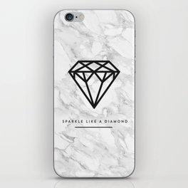 Diamond with Marble iPhone Skin