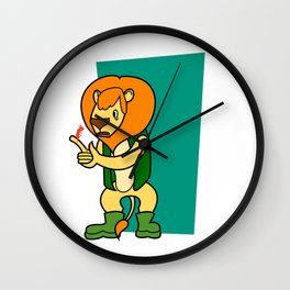 Sorry lion Wall Clock