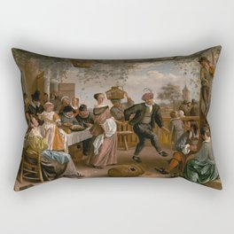 The Dancing Couple - Jan Steen Rectangular Pillow