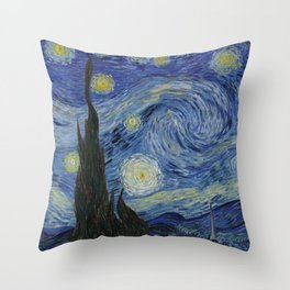 The Starry Night Throw Pillow