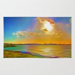 Sunrise at the Marina Rug