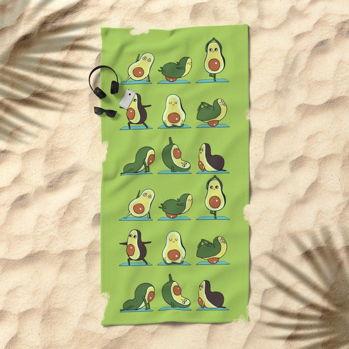 Avocado Yoga Beach Towel