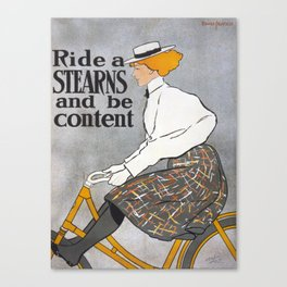 Bicycle Advertise Canvas Print