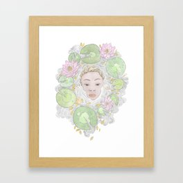 Water Lily Lady Framed Art Print