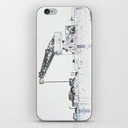 Canal Port Crane Drawing iPhone Skin
