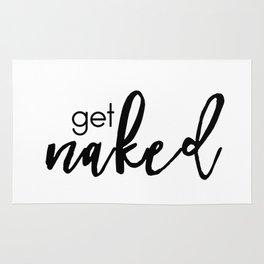 get naked (black) Rug