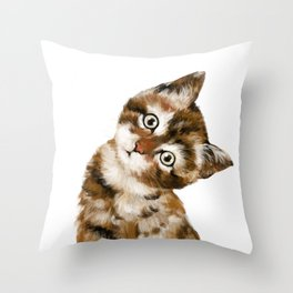 Baby Cat Throw Pillow