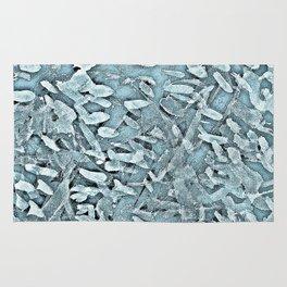 Ocean Tips Silver Blue Abstract Rug
