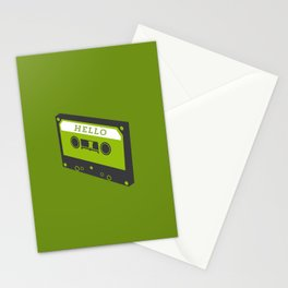Hello tape green Stationery Cards