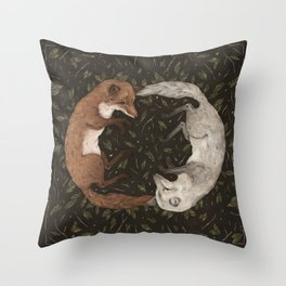 Foxes Throw Pillow