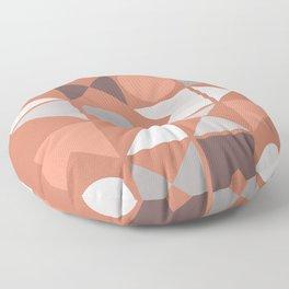 Mid Century Modern Geometric 18 Floor Pillow