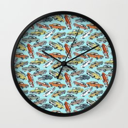 Muscle Cars Wall Clock