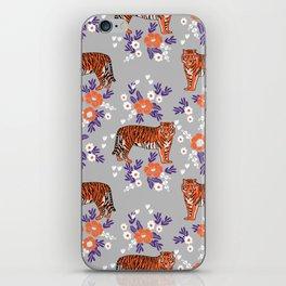 Tigers orange and purple clemson football varsity university college sports fan gifts iPhone Skin