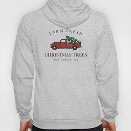 Christmas Tree Farm Vintage Truck Hoody