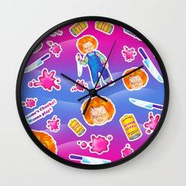 1997 Neon Rainbow Evil Murder Good Guy Doll Wall Clock