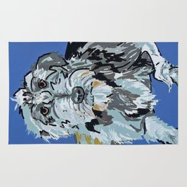 Irish Wolfhound Dog Portrait Rug