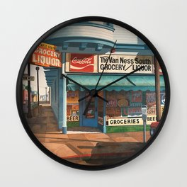 The Van Ness South Grocery 17 & SVN San Francisco 1994 Wall Clock