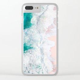 Pink Sand Beach Clear iPhone Case