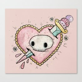 Stab My Heart Canvas Print