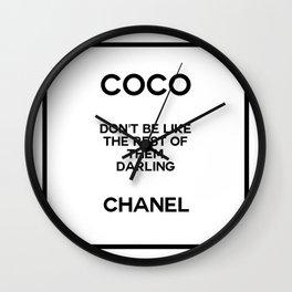 coco quote no. 18 Wall Clock