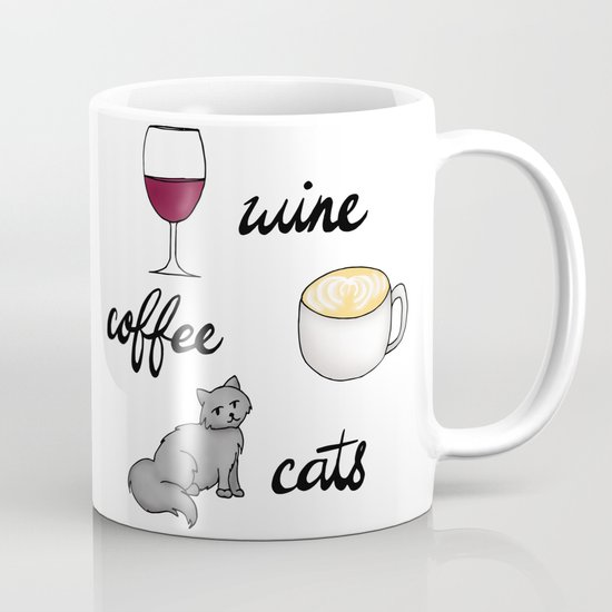 wine coffee cats mug mugs cat lady gifts